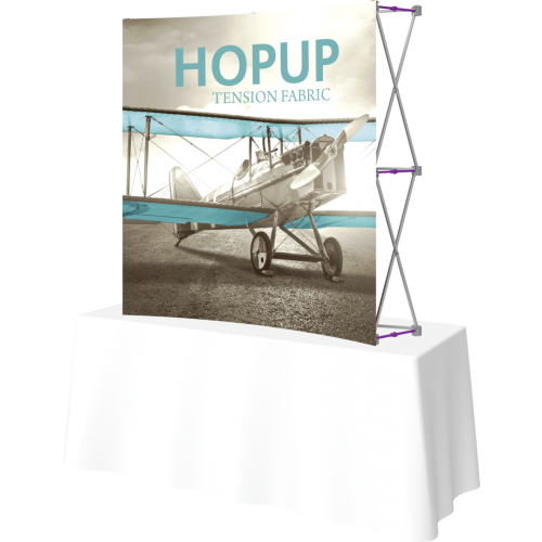 Hopup 5.5ft Curved Square Tabletop Tension Fabric Display